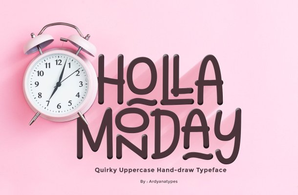 Holla Monday Display Font-1