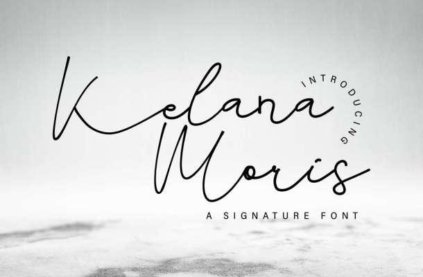 Kelana Moris Signature Font