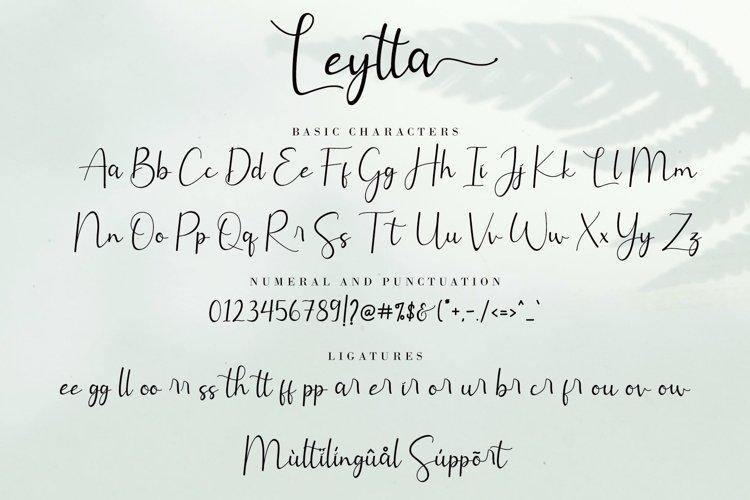 Leytta Modern Calligraphy Font-3