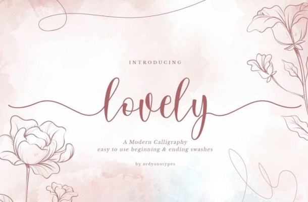 Lovely Calligraphy Font