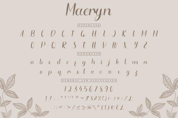 Maeryn Calligraphy Font-3