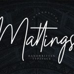 Mattings Handwritten Signature Font