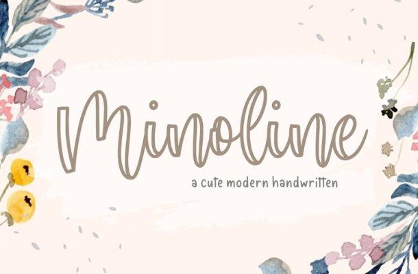 Minoline Cute Handwritten Script Font