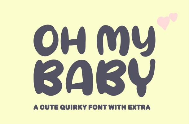 Oh My Baby Cartoon Font-1