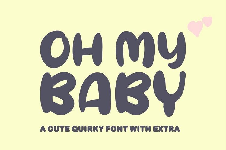 Oh My Baby Cartoon Font-1