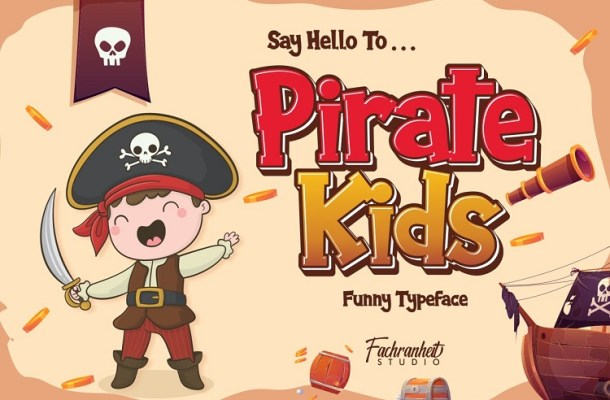 Pirate Kids Cartoon Font