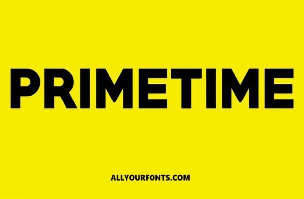 Primetime Sans Serif Font