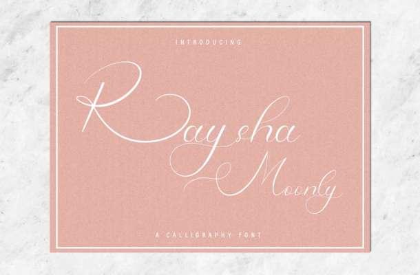 Raysha Moonly Calligraphy Font-1