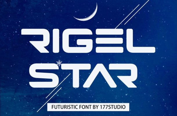 Rigel Star Futuristic Display Font-1