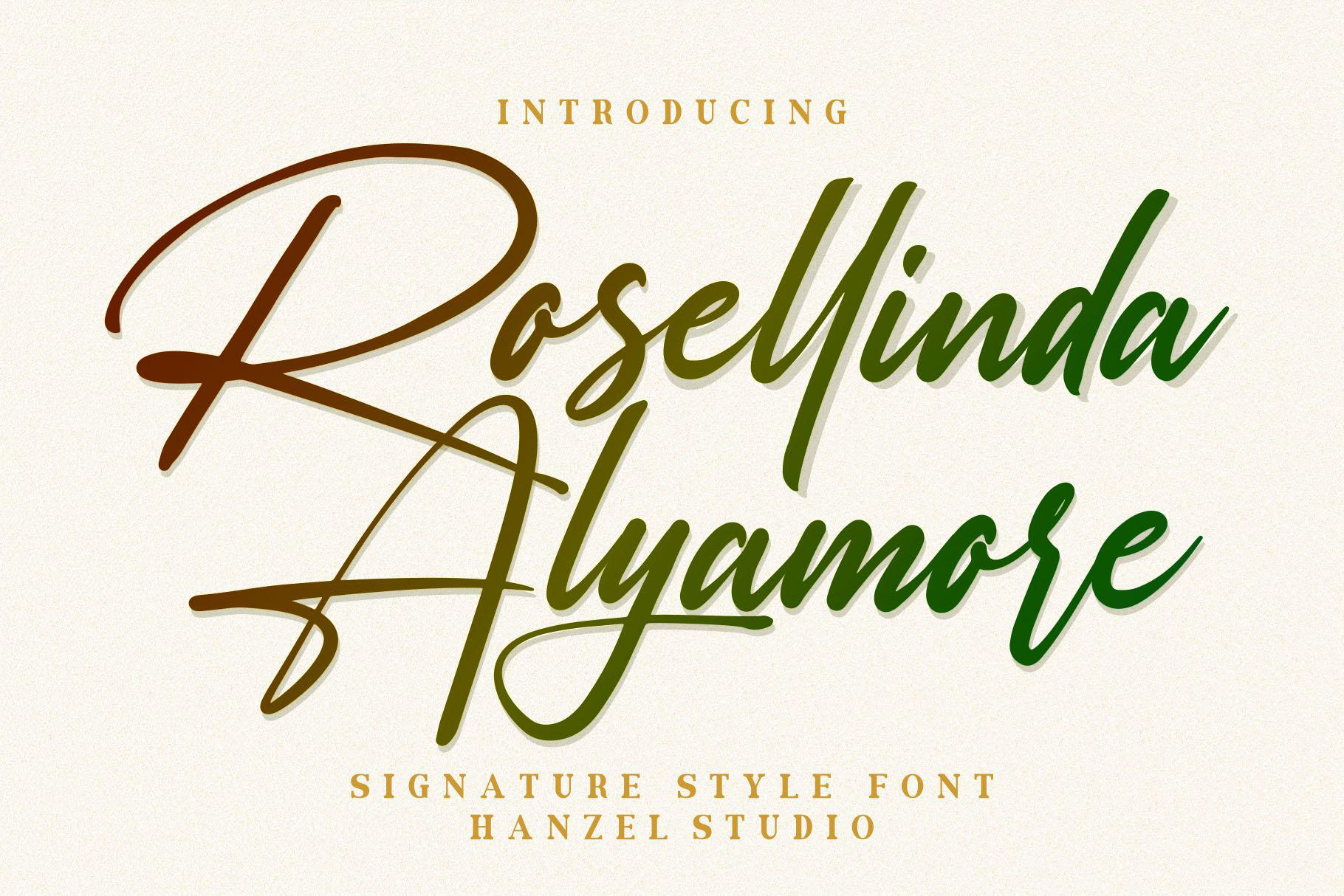 Rosellinda Alyamore Signature Font-1