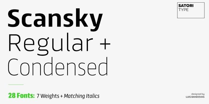 Scansky Sans Serif Font-1