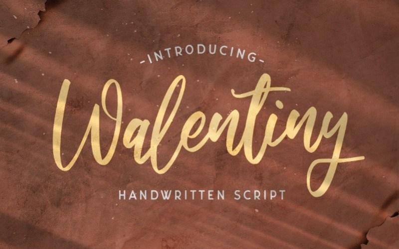 Walentiny Handwritten Script Font-1