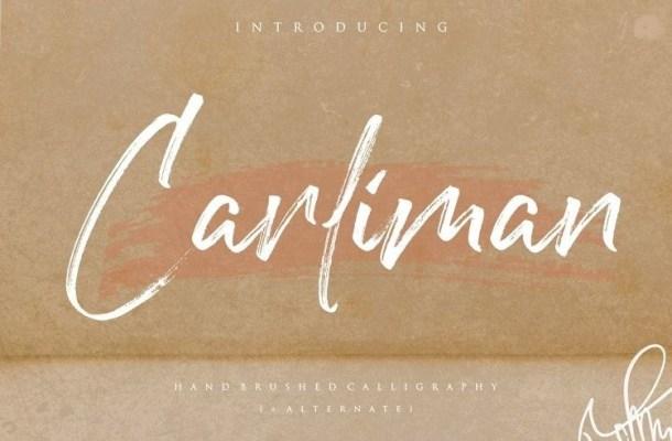 Carliman Hand Brush Font