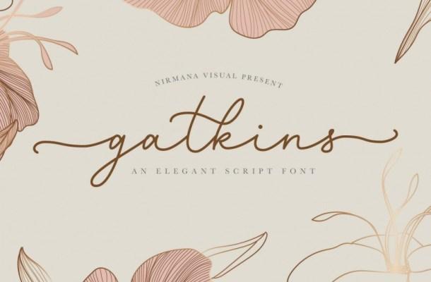 Gatkins Script Signature Font