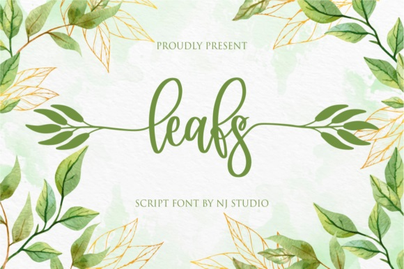 Leafs Calligraphy Script Font