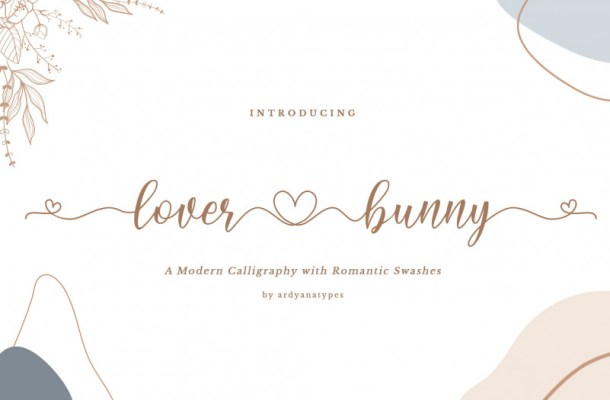Lover Bunny Calligraphy Font