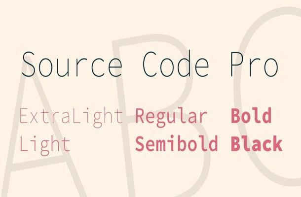 Source Code Pro Sans Font Family