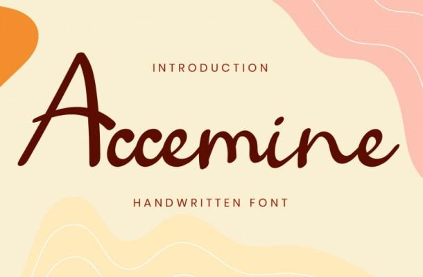 Accemine Handwritten Script Font