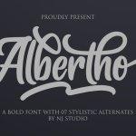 Albertho Bold Script Font