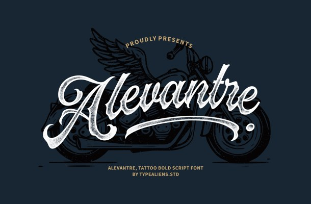 Alevantre Tattoo Bold Script Font-1