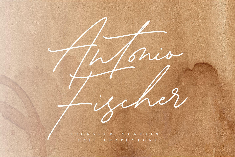 Antonio Fischer Signature Monoline Script Font-1