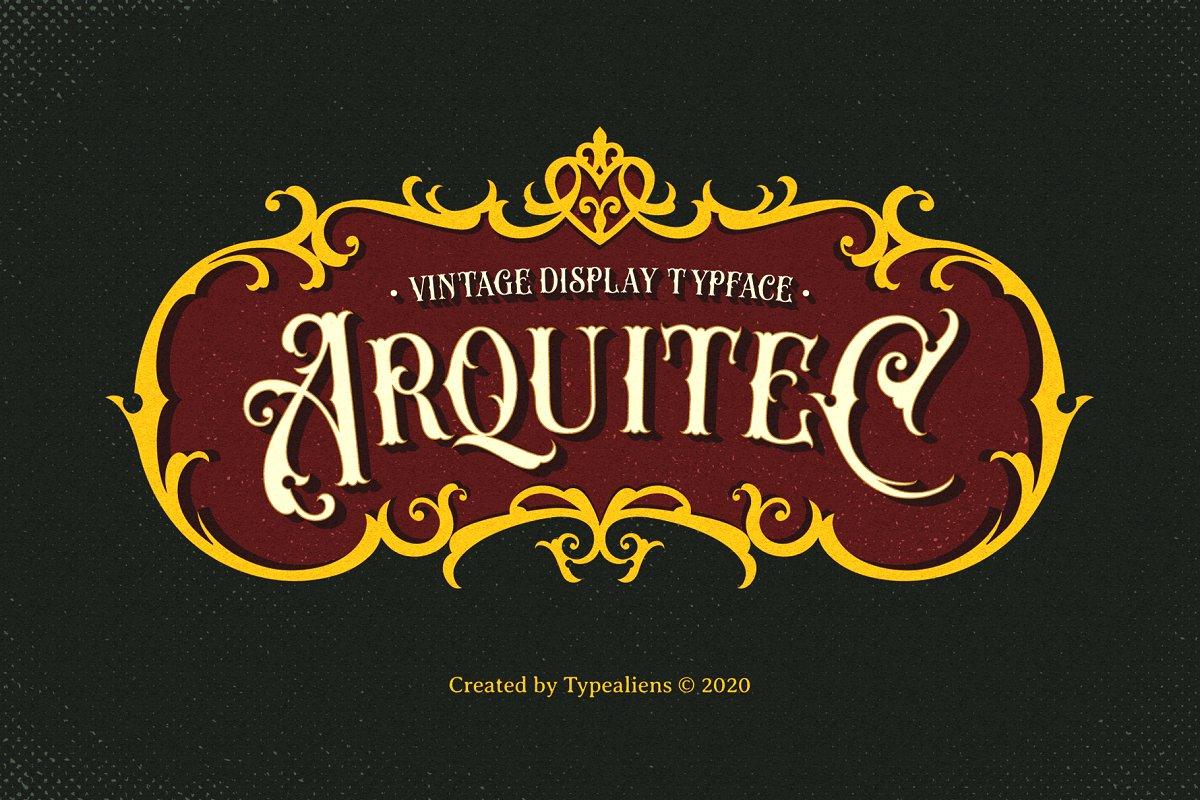 Arquitec Vintage Display Font-1