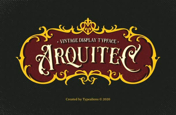 Arquitec Vintage Display Font-1