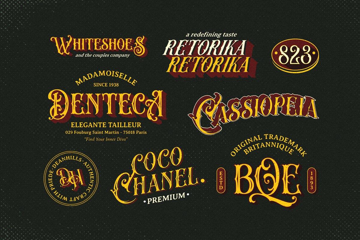 Arquitec Vintage Display Font-2
