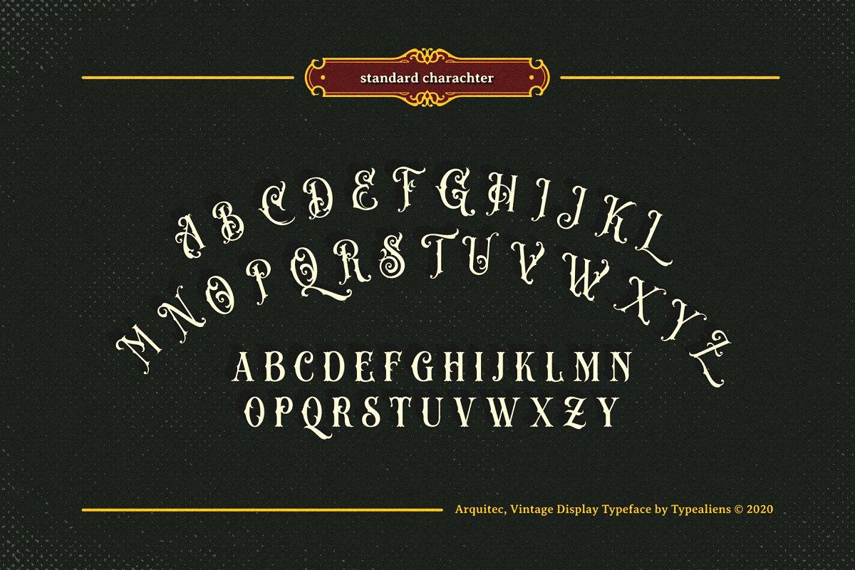 Arquitec Vintage Display Font-3