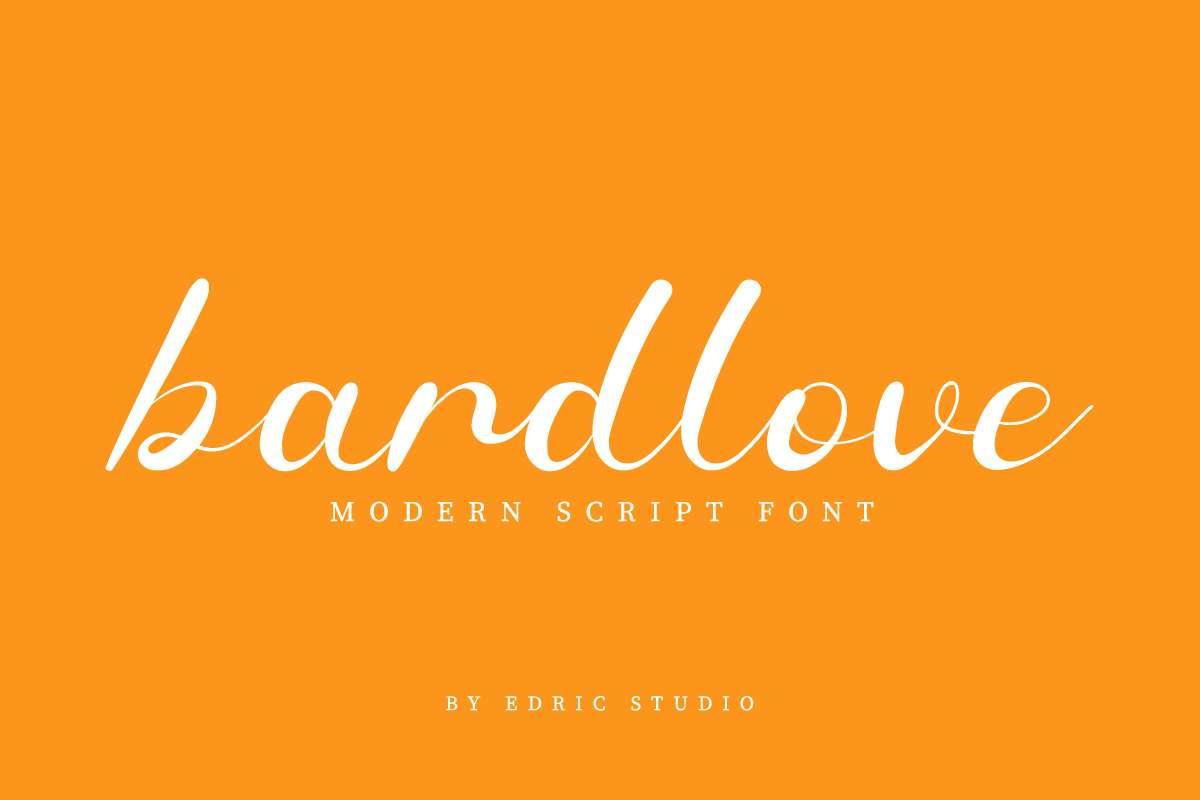 Bardlove Calligraphy Script Font-1
