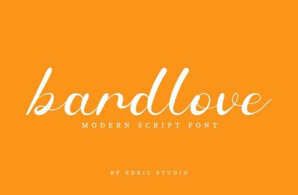 Bardlove Calligraphy Script Font
