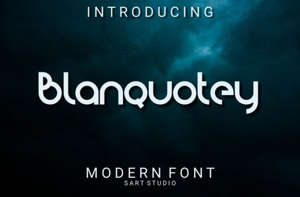Blanquotey Display Font-1