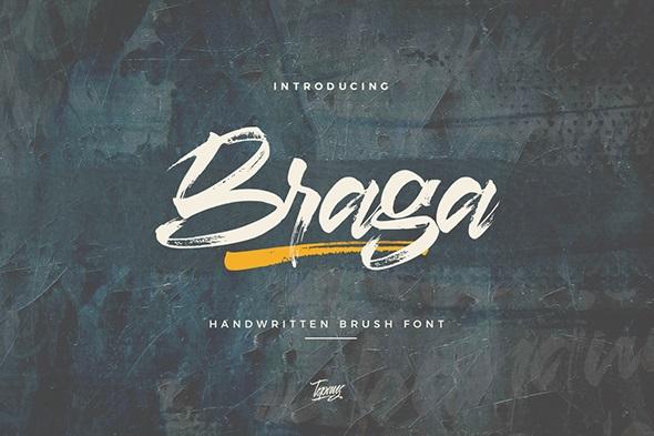 Braga Brush Script Font-1