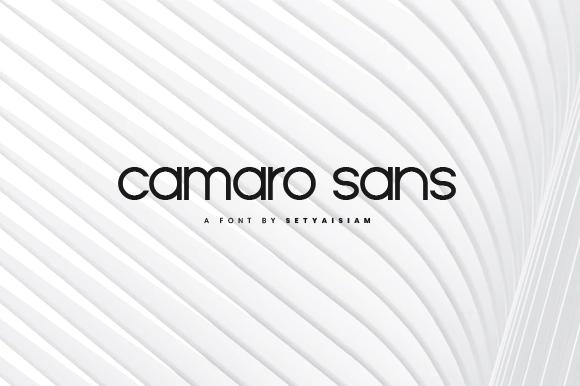 Camaro Sans Serif Font-1