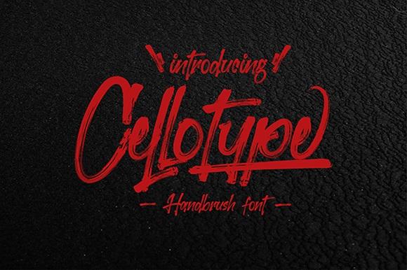 Cellotype Brush Script Font-1