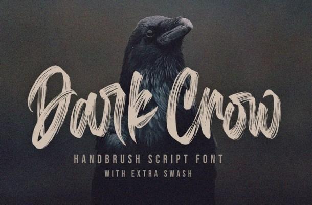 Dark Crow Brush Script Font