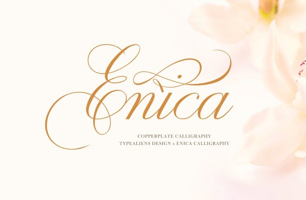 Enica Calligraphy Font
