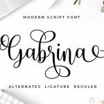 Gabrina Calligraphy Script Font