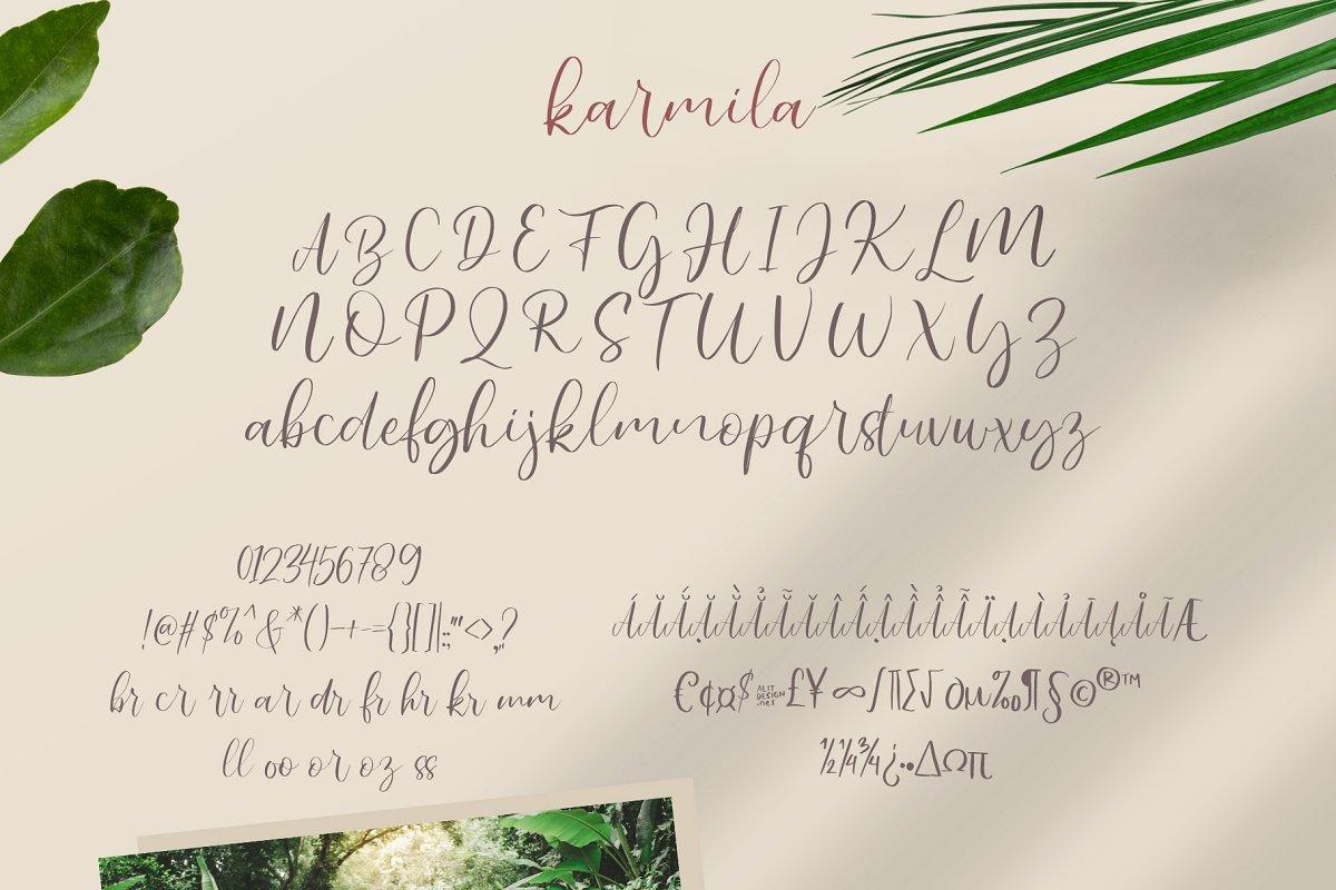 Karmila Handwritten Script Font-3