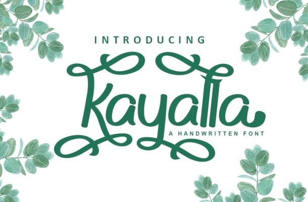 Kayalla Bold Calligraphy Script Font