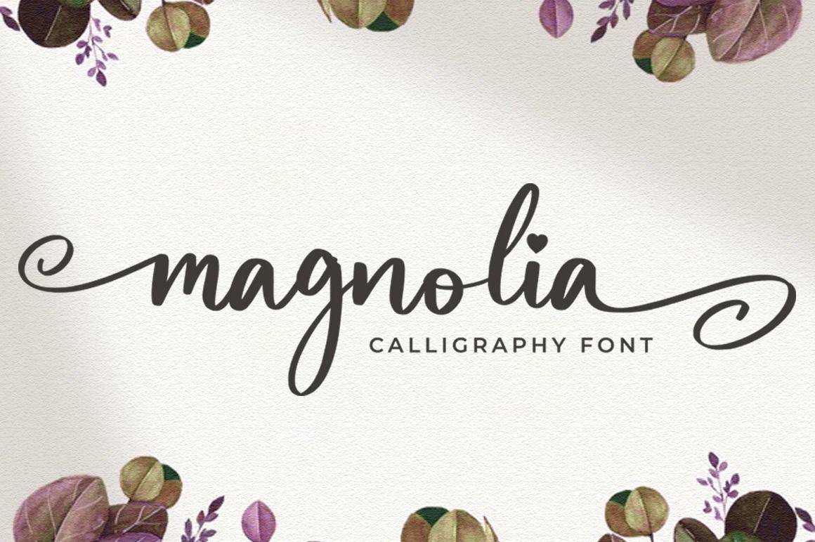 Magnolia Calligraphy Script Font-1
