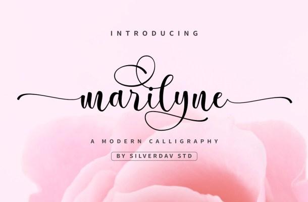 Marilyne Modern Calligraphy Font