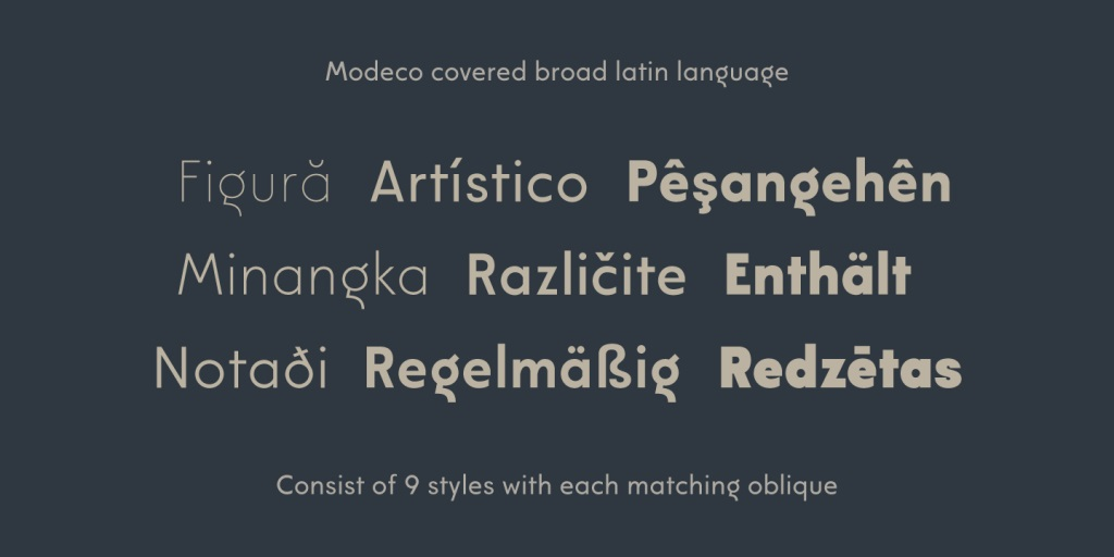 Modeco Sans Serif Font Family-4