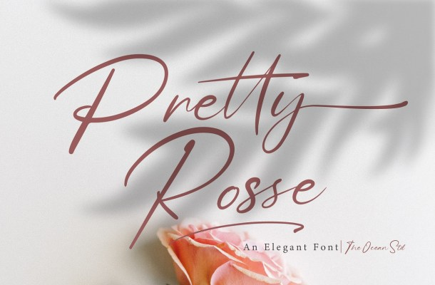 Pretty Rosse Handwritten Signature Font