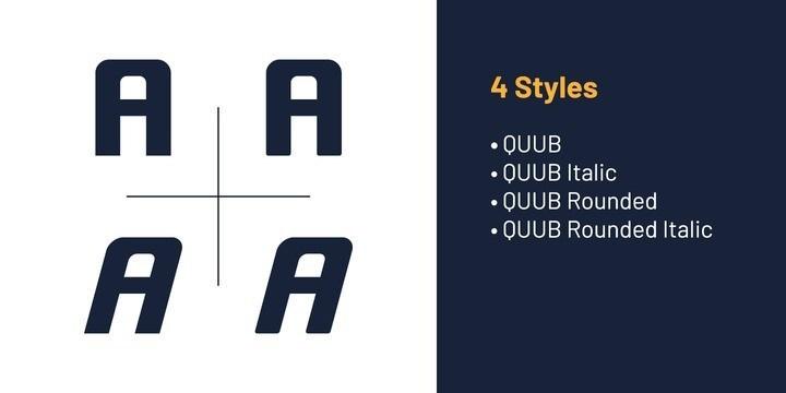 Quub Sans Serif Font Family-2