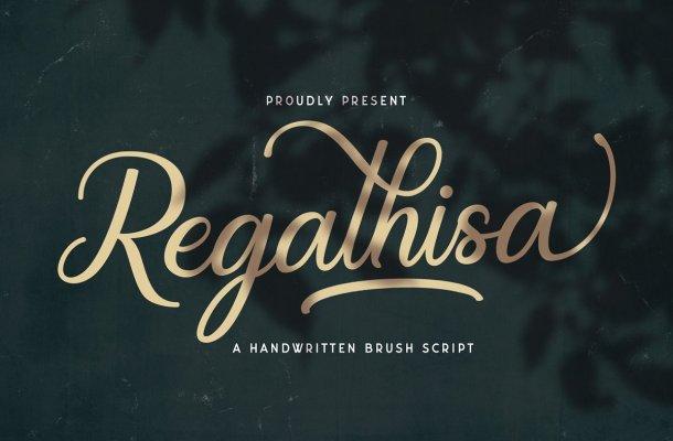Regalhisa Calligraphy Script Font