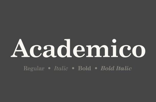 Academico Serif Font Family