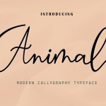 Animal Modern Calligraphy Script Font