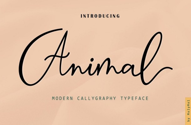 Animal Modern Calligraphy Script Font-1