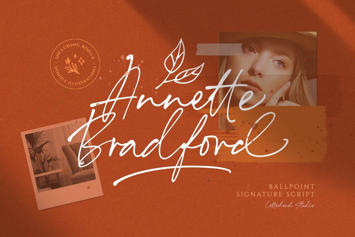 Annette Bradford Ballpoint Signature Script Font-1